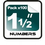 "1.5"" Race Numbers - 100 pack"